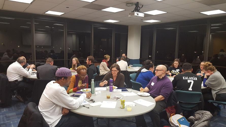 Dinner for 12-4: Students attending 1st Dinner for 12 Hosted by the NEIU Alumni Advisory Board.