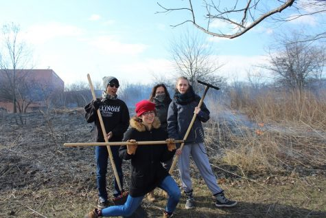 Students set fire to build ecosystems on campus