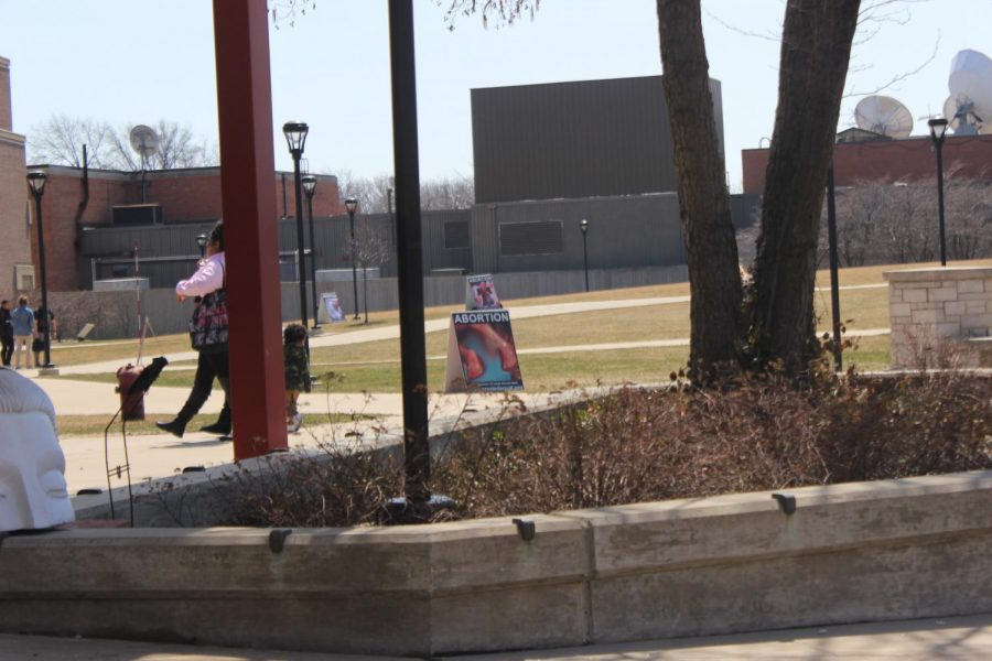 Anti-abortion group protests on NEIU campus