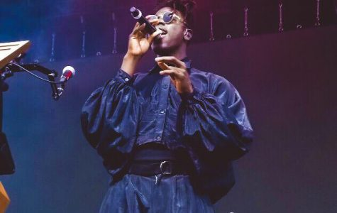 Moses Sumney during his performance on Saturday, July 21.