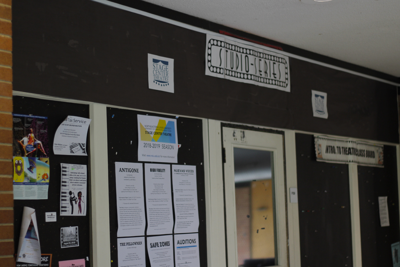 Stage Center Theatre is located in Building F, next to Lech Walesa Hall.
