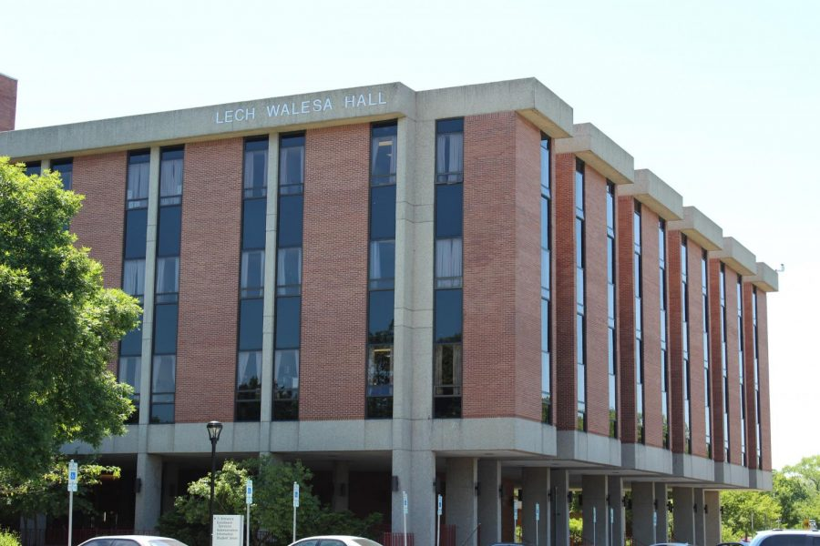 Lech Walesa Hall on NEIU's main campus.