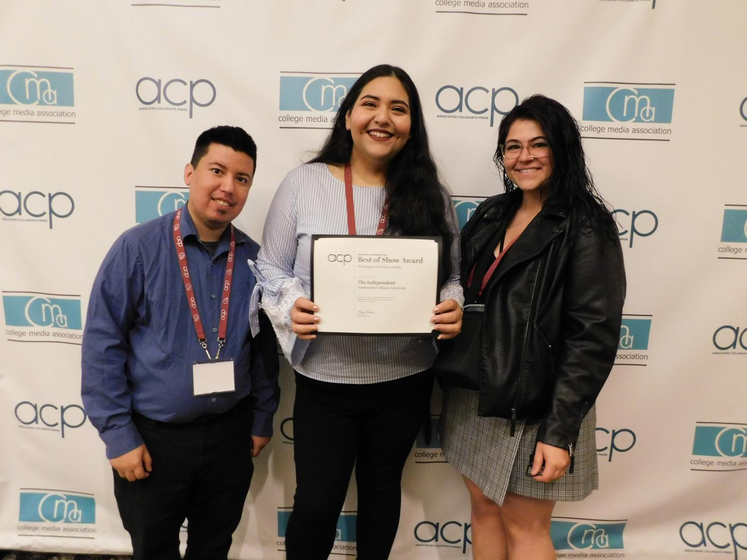 Editors Robert Kukla, Amaris E. Rodriguez and Nicole F. Anderson pose with the Independent's