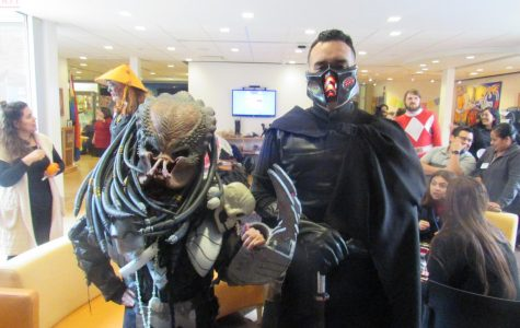 Xiadany Ayala and Anthony Pacheco as Predator and Dark Jedi.