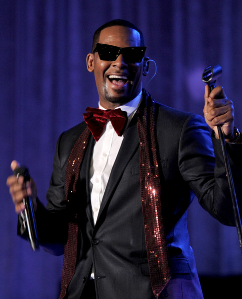 Singer R.Kelly at a Pre-Grammy party.