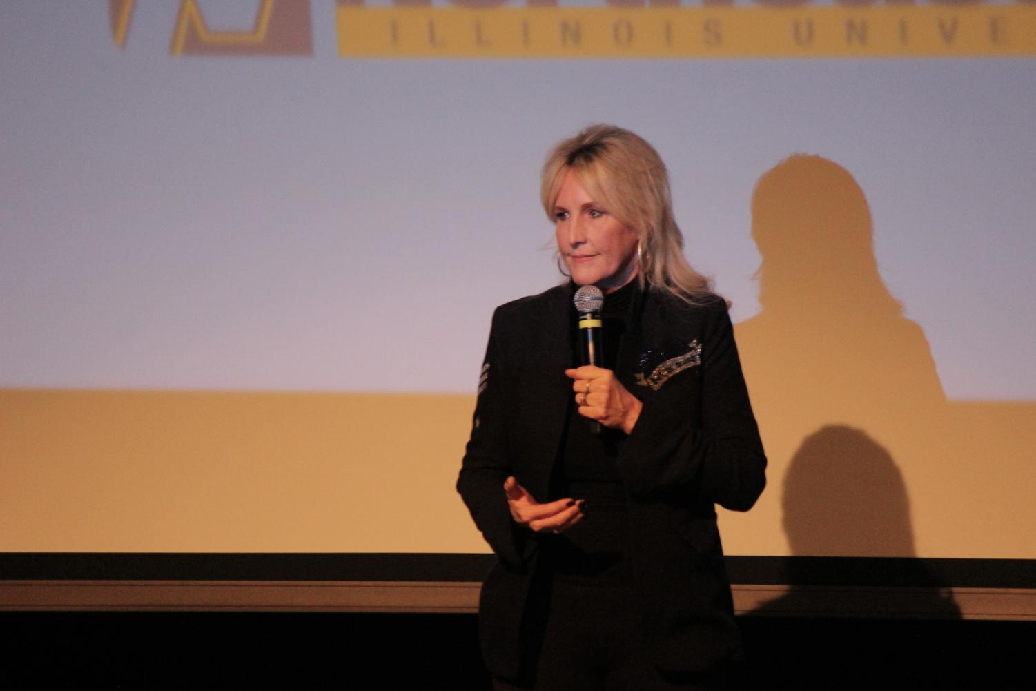 Erin Brockovich talking during