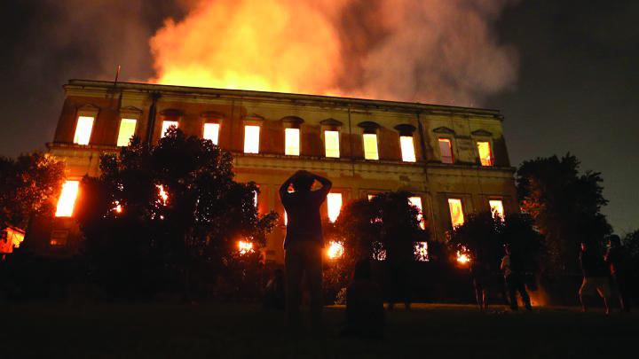 National+Museum+in+Rio+De+Janeiro+burned+down+on+September+2%2C+2018.+