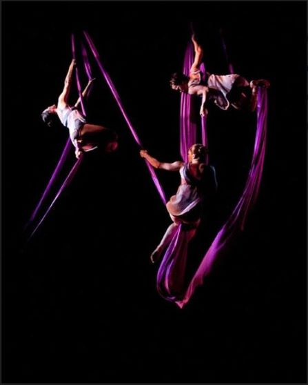 Dancer performing in Higher Ground | Photo by Aerial Dance Company