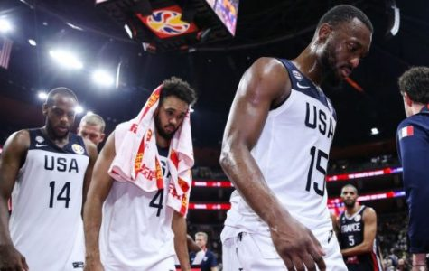 Team US looks disgruntled after their loss to France | Photo by: Zhizhao Wu/Getty Images
