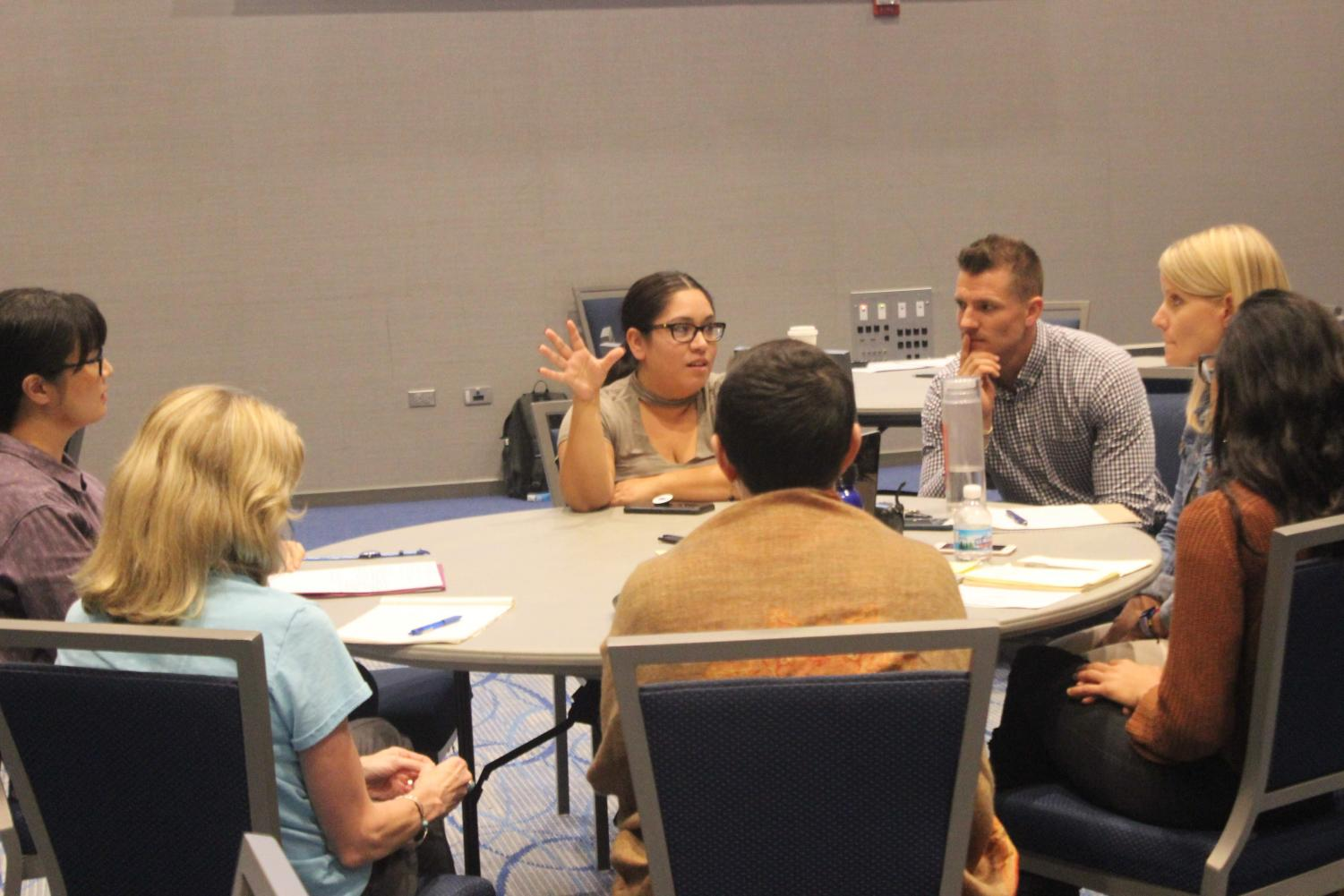 Participants discuss the challenges and rewards of conflict resolution.| Photo by Frannie Mendoza