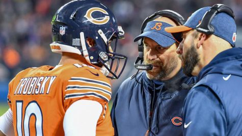 The Nagy-Trubisky connection has set the Bears back years. How long of a leash will Pace give them? | Photo by: NBCSports.com