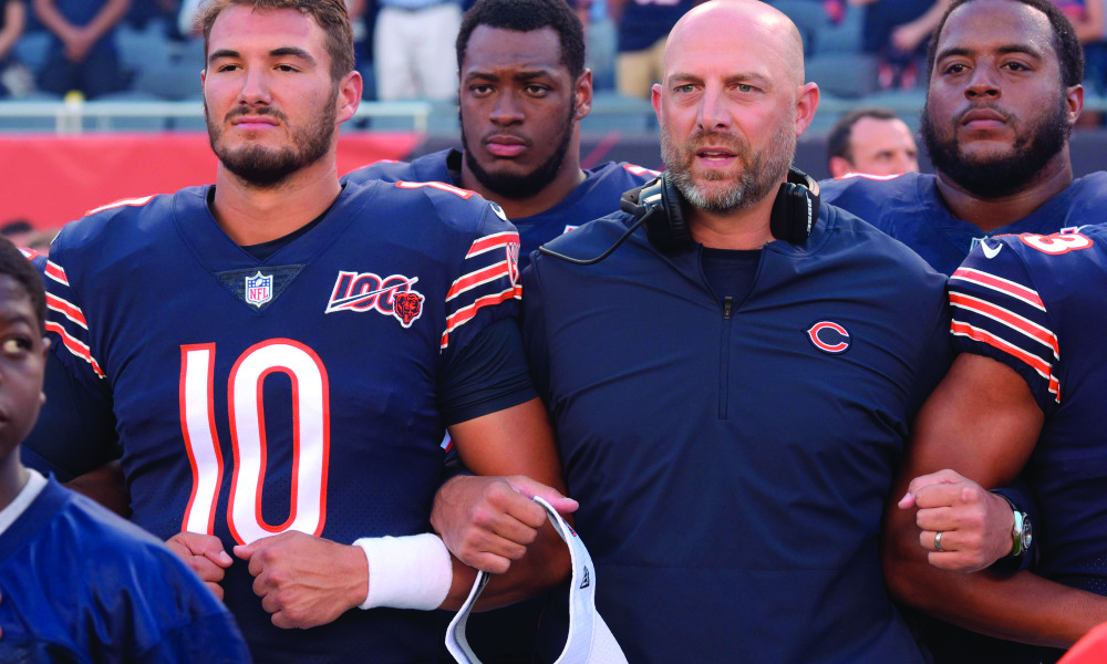 The Bears playoff chances are on life support. Can they make a miraculous run? | Photo by:  Bears Wire USA TODAY