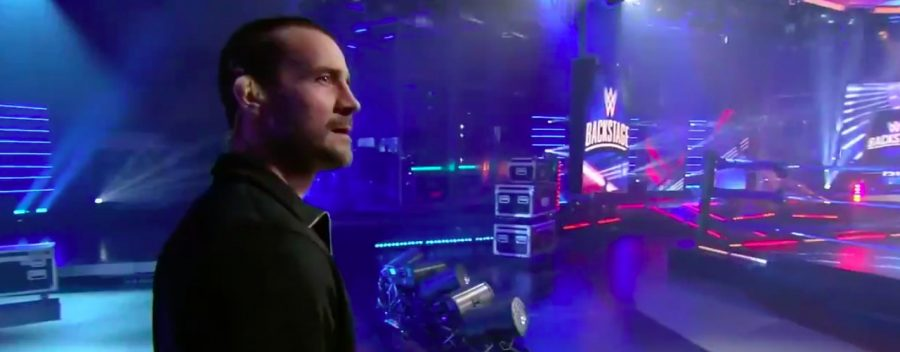 "CM Punk makes his long-awaited return to WWE at ""WWE Backstage"" 