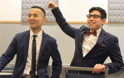 Tsetan Lungkara '19 and Fransisco Sebastian, former and current accounting students| Photo by Tim LeCour