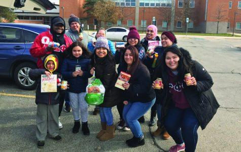 Volunteers during Hunger & Homelessness Awarenesss Week.