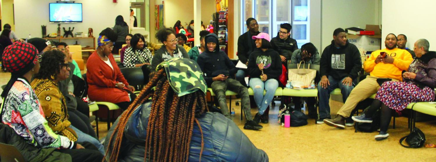 The audience share the experiences they have had with hairstyle discrimination and texturism.   Photo by Tim Le Cour