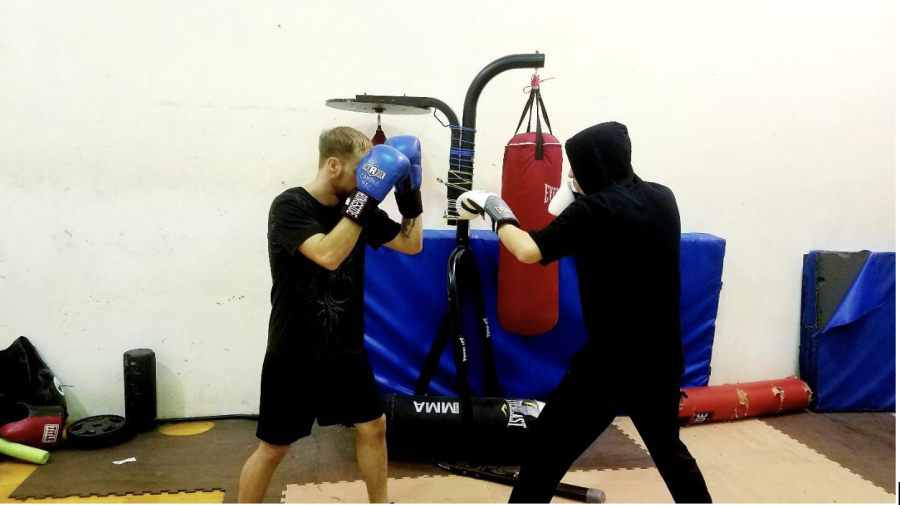 Phillip+Noffz+and+Matthew+Scanlan+sparring+at+boxing+club%7C+Photo+by+Rachel+Willard