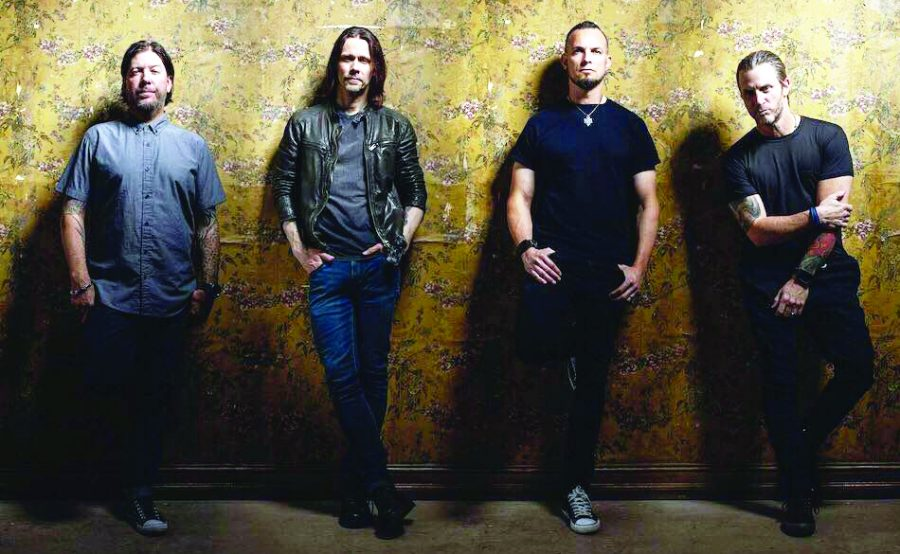 From left to right: drummer Scott Phillips, vocalist Myles Kennedy, lead guitarist Mark Tremonti and bassist Brian Marshall | Photo courtesy of Alter Bridge
