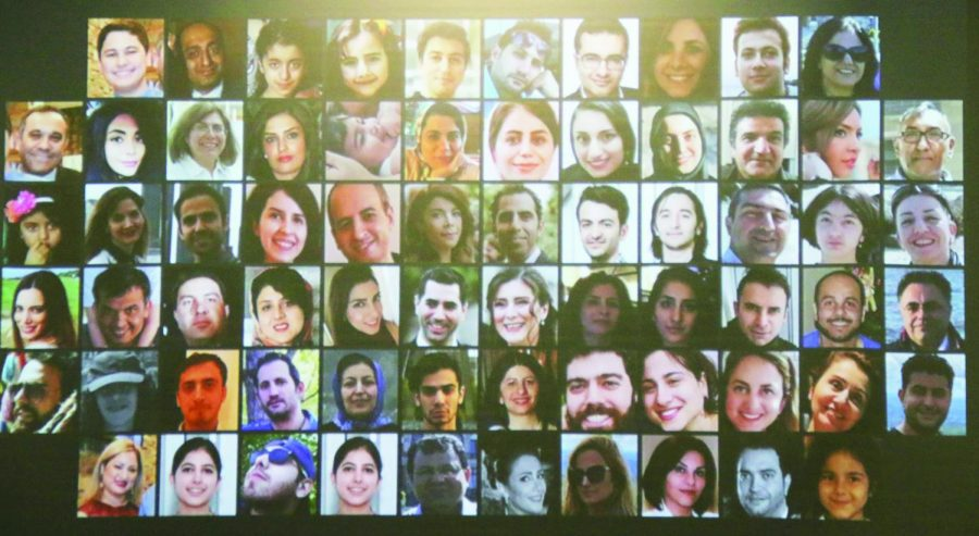 Photos+of+the+passengers+who+boarded+Ukrainian+Flight+PS752+were+shown+at+the+vigil+along+with%0Atheir+bios.