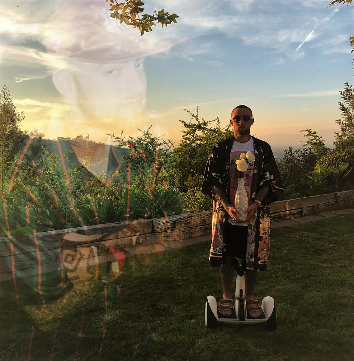 Mac Miller, 92′ Til Infinity (Photos from Instagram @macmiller, Modified by Rachel Willard)