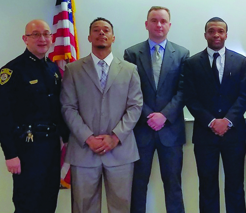 Chief Escalante with officers Paul Whitfield, Sebastian Czerech and Dexter Johnson.