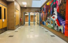 Empty hallway in NEIU's Salme Harju Steinberg Fine Arts Center
