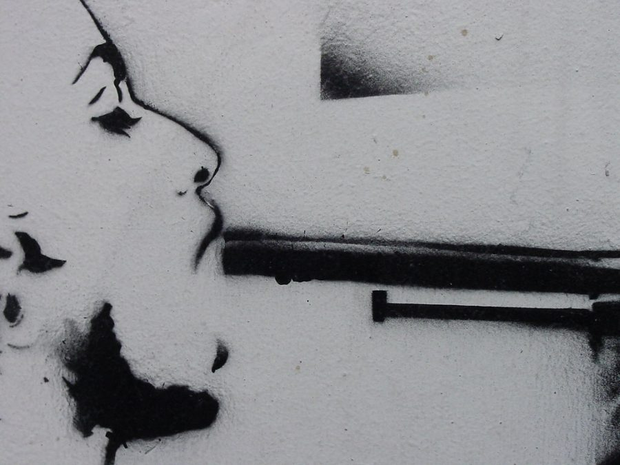 suicide stencil by polmuadi is licensed under CC BY 2.0