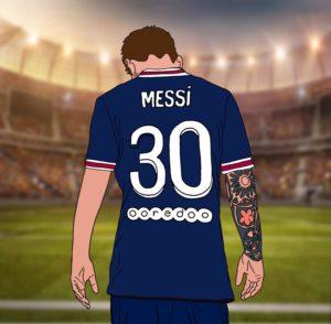 Messi Illustrated by Savannah Owens